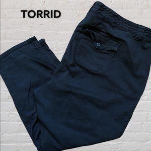 TORRID black chinos